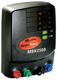Gallagher PowerPlus MBX2500 110V Plug in or Battery 1000 Acres/ 50 Miles Professional Charger  Remote Controlled