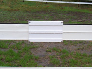 Centaur Fence Splice Cover for 5 Inch Wide Flexible Rail Fence
