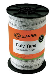 Gallagher 1 1/2 Inch Wide Turbo Tape White 656ft for Long Distances