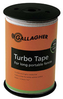 Gallagher 1/2 Inch Wide Turbo Tape White 656ft  for Long Distances