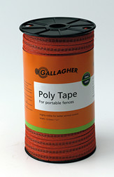 Gallagher 1/2 Inch Wide Poly Tape White 656ft  Orange or White