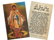 Juan Diego Holy Card