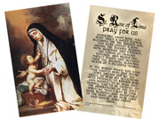 St. Rose of Lima Holy Card