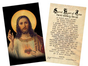 Antique Sacred Heart Holy Card