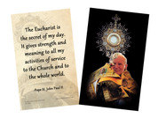 Pope John Paul II Monstrance Quote Holy Card