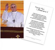Papa Francisco Tarjeta de Oraci?n Laminada (Pope Francis Spanish Laminated Prayer Cards)