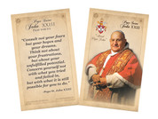 Pope John XXIII Sainthood Commemorative Holy Card with Quote