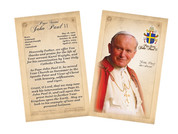 Pope John Paul II Sainthood Commemorative Holy Card with Prayer