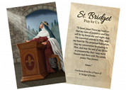 """St. Bridget of Sweden"" by Nellie Edwards Holy Card"