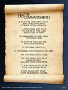 10 Commandments Wall Graphic