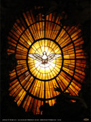 Stained Glass Dove Wall Graphic