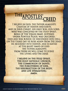 Apostles' Creed  Wall Graphic