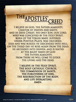 Apostles' Creed Wall Graphic - Steubenville Press