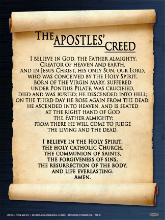 Apostles' Creed Wall Graphic - Steubenville Press