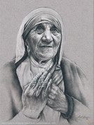 Mother Teresa by Lisa Brown Wall Graphic