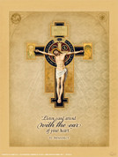 Benedictine Cross Wall Graphic
