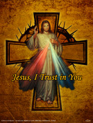 Divine Mercy Cross Wall Graphic