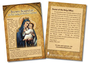 Brown Scapular of Our Lady of Mount Carmel Faith Explained Card