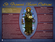 St. Frances Xavier Cabrini Explained Poster