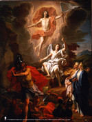 The Resurrection by Coypel Poster