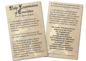 Examination of Conscience Holy Card