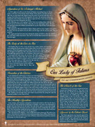 Our Lady of Fatima Faith Explained Commemorative Poster