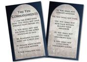 Ten Commandments Holy Card