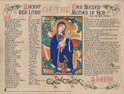 Ancient Irish Litany of Our Lady Poster