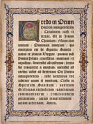 Latin Apostles Creed Poster