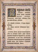 Latin Regina Caeli Poster