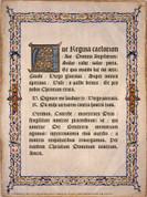 Latin Ave Regina Caelorum Poster