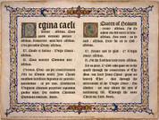 Latin-English Regina Caeli Poster