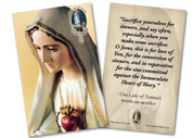 """Our Lady of Fatima """"Sacrifice Yourselves"""" Quote Anniversary Holy Card"""