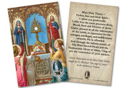 Adoring Angels St. Michael Reparation Prayer Holy Card