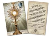 Monstrance Fatima St. Michael Reparation Prayer Holy Card