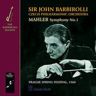 CZECH PHILHARMONIC ORCHESTRA - MAHLER: SYMPHONY NO.1 BARBIROLLI (UK) CD