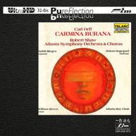 SHAW ATLANTA SYMPHONY ORCHESTRA & CHORUS - CARL ORFF CARMINA CD