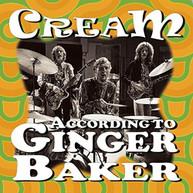 CREAM - ACCORDING TO GINGER BAKER CD