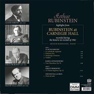 ARTHUR RUBINSTEIN - HIGHLIGHTS FROM RUBINSTEIN AT CARNEGIE HALL VINYL
