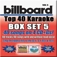 PARTY TYME KARAOKE: BILLBOARD TOP 40 KARAOKE 5 / V CD