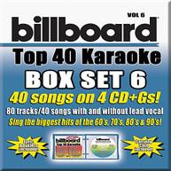 PARTY TYME KARAOKE: BILLBOARD TOP 40 KARAOKE 6 / V CD