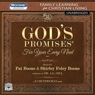 PAT BOONE / SHIRLEY FOLEY  BOONE - GOD'S PROMISES FOR YOUR EVERY NEED CD