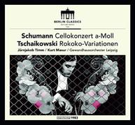 TCHAIKOVSKY /  SCHUMANN / TIMM - SCHUMANN & TCHAIKOVSKY: CELLO VINYL