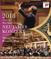 RICCARDO MUTI /  WIENER PHILHARMONIKER - NEW YEAR'S CONCERT 2018 / BLURAY