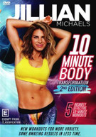 JILLIAN MICHAELS: 10 MINUTE BODY TRANSFORMATION - SECOND EDITION (2017)  [DVD]