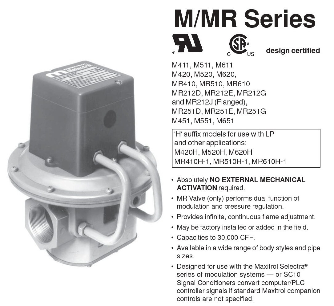 Maxitrol Gas Valve Part #MR212E 1212 FurnacePartSource.com #626569