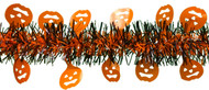 Shinny Pumpkins on Black and Orange Tinsel