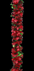 Red Green Ribbon Garland