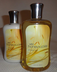 BATH & BODY WORKS WILD HONEYSUCKLE BODY LOTION AND SHOWER GEL SET