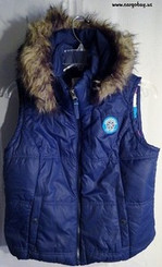 AEROPOSTALE BLUE HOODED PUFFER  VEST SIZE LARGE with FREE SHIPPING